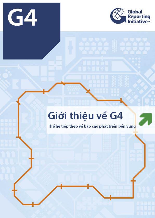 """Mẫu thiết kế dàn trang """"Báo cáo Giới thiệu về G4."""""""