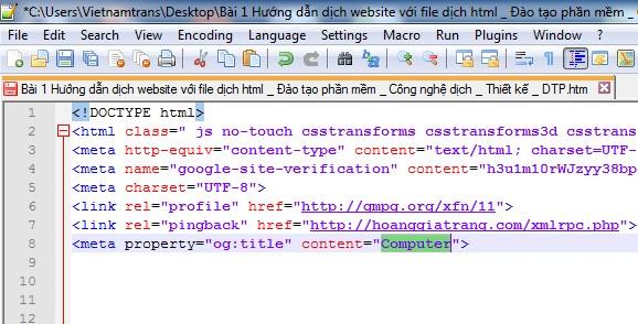 Hướng dẫn dịch website với file HTML bằng phần mềm dịch thuật