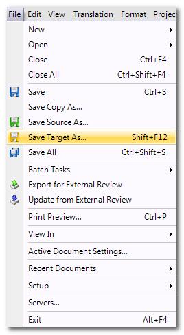 Cách tạo một file bilingual SDLXLIFF trong phần mềm trados