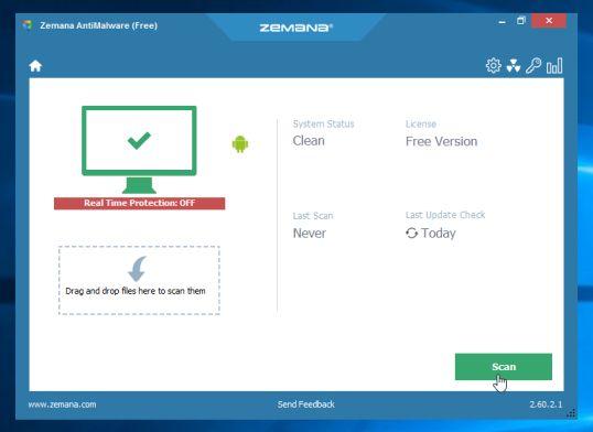 Zemana-AntiMalware-Free-Scan
